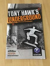 TONY HAWK'S UNDERGROUND INSTRUCTION BOOKLET MANUAL * NINTENDO GAMECUBE