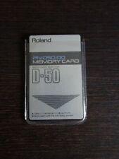 Roland D-50 / D-550 PN-D50-00 Patch Data Card Original Werksounds