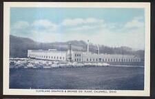 Postcard CALDWELL Ohio/OH  Cleveland Graphite Bronze Factory/Plant 1950's