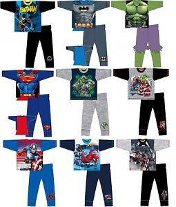 Kids Avengers Pyjamas Childrens Boys Marvel Superman Batman PJs Age 2- 10 Years