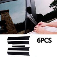 Window Posts Cover Trim Effect Pillar PC Plastic Set For Honda Civic 2006-11