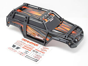 Summit UPDATED BODY (ORANGE & BLACK ExoCage Cover Shell, Traxxas 56076-4