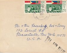 1965 Philippines card sent from Manila to New York USA