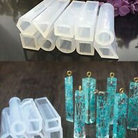 1X(10 Pieces Assorted Shapes Silicone Pendant DIY Molds Resin Moulds for DI 4K6)