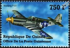 WWII North American P-51 MUSTANG Fighter Aircraft Stamp (2002 Guinea)