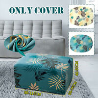 Fiber Sofa Footstool Cover Stretch Slipcover Protector Removable Chair Seat Case