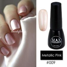 MAX 7ml Nail Art Color UV LED Soak Off Gel Polish #009-Metallic Pink