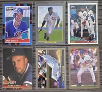 """⚾️Mark Grace 6-CARD LOT including ROOKIE 1988 Donruss Leaf """"Rated Rookie"""" #40"""
