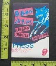 ROLLING STONES,Original Vintage cloth Backstage pass,1990 tour