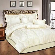 7Pcs Luxury Jacquard Bedspread Set / Valance Sheet / Pillow Shams 240 X 260 cm