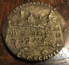 Vintage Caste Bronze Medallion German HOSPITAL Chr Schultz * Medical Psychiatric