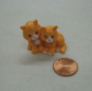 ORANGE KITTENS CAT PET for Fisher Price Loving Family Dollhouse Shop Miniature