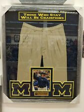 Michigan Wolverines Jim Harbaugh Signed Autographed  Khaki Pants Deluxe Framed..