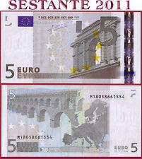 """(com) EUROPEAN UNION  PORTUGAL  5 EURO 2002 Sign TRICHET """"M"""" U008H3 - P 8m - UNC"""