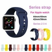 Silicone Band Strap For Apple Watch iWatch Sports Series SE 6 5 4 38/42/40/44mm
