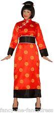 FEMME ROUGE ORIENTAL CHINOIS JAPONAIS KIMONO COSTUME DÉGUISEMENT 14-16-18