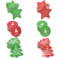 Decorative Christmas Gift Hang Tags DIY Wrapping Paper Labels Favors Cards 50pcs