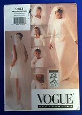 Vogue Bridal Wedding Veils & Hat Sewing Pattern 9183 UNCUT 6 Styles Lace FF
