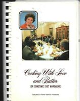#E VINTAGE HOME INTERIORS CROWLEY COOKING WITH LOVE AND BUTTER RECIPES COOKBOOK