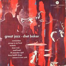 CHET BAKER: Great Jazz (Bertelsmann  61133 High-Fidelity / Mono)