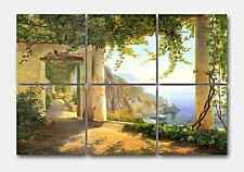 Aagaard View to Amalfi Ceramic Mural Backsplash Kitchen 24x16 in