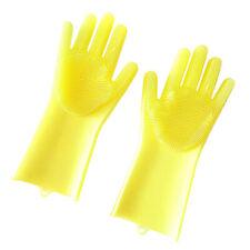 Gummi-Silikon-Waschhandschuhe Geschirrreinigung Waschhandschuh Gelb