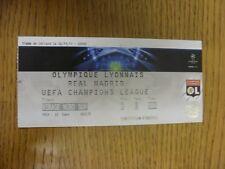 02/11/2011 billet: Lyon/Real Madrid [Ligue des Champions] (plié). Merci de vi