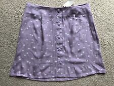 Womens Aeropostale Size Medium M Purple High Rise Button Front Floral Skirt NWT