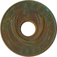 COIN / EAST AFRICA / 5 CENT GEORGE VI.  1933    #WT5591