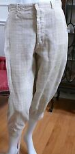 1910-20`s Irish Linen Man`s Small Plaid Knickers Gatsby Golf Trousers S