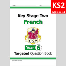 KS2 Year 6 French Targeted Question Book with Answer Ages 10-11 CGP