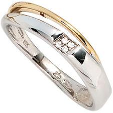 P1 Echte Diamanten-Ringe im Cluster-Stil aus Gelbgold