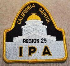 CA International Police Association California Capitol IPA Patch