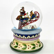 """Jim Shore OVER THE ROOFTOPS 6"""" Musical Snow Globe 4014294 Christmas 2009 Mint"""