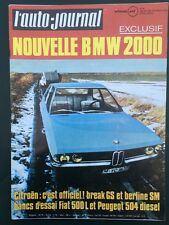 Auto-journal 02/1971 Bmw 2000 Peugeot 504 diesel Citroën GS Break et SM Berline