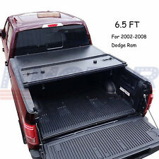 JDMSPEED Hard Folding Tonneau Cover 6.5 FT Short Bed For Dodge Ram 2002-2008