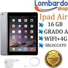 APPLE IPAD AIR 16GB WIFI 4G SIM CELLULAR RICONDIZIONATO GRADO A NERO SPACE GREY