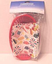 Farberware USA Red Burger Basket and Liner Set 3 Food Baskets & 20 Basket Liners