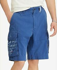 Polo Ralph Lauren Men's Twill Cargo Shorts Blue Outfitter 36x10 Ship