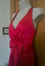 RED HERRING DRESS PINK SATIN 14 UK HALTER, RRP £60 NWT U/SKIRTS WEDDING/OCCASION