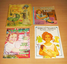 Lot Of 4 Shirley Temple At Play Now I Am Eight Paper Dolls Hollywood Studio Mag