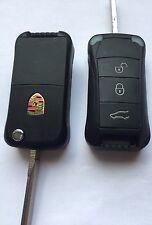 Coque Clé Plip FLIP KEY BOITIER   Télécommande Pour Porsche Cayenne 3 Boutons