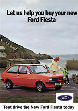 FORD FIESTA mk1 RETRO A3 POSTER PRINT FROM CLASSIC 70's 80'S ADVERT
