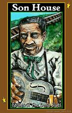 Son House Father of the Delta Blues Poster by Cadillac Johnson