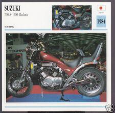 1984 Suzuki 700cc & 1200cc Madura Japan Bike Motorcycle Photo Spec Info Card