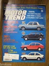 MOTOR TREND MARCH 1981 AMERICA VS. IMPORTS