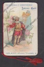 CALENDARIETTO 1904 PASTICCERIA GATTI MILANO - CYRANO DE BERGERAC - OPERA LIRICA