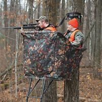 NEW Rivers Edge Camo Curtain For Relax 2-man Hunting Ladder Stand (CURTAIN ONLY)