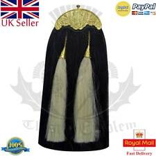 Orginal Piper Kilt Sporran Black Horse Hair Golden Thistle Cantle/Kilt Sporran