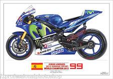 Jorge Lorenzo World MotoGP champion 2015 Yamaha YZR M1- Print No 99/250